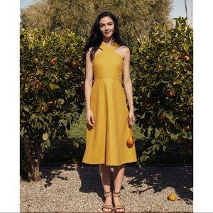 Ann Taylor Halter Midi Dress